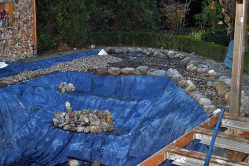 teichumbau trotz schichtenwasser - exklusive-gartenteiche, Gartenarbeit ideen