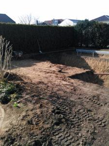 Teichcompound-Naturpool-Erdarbeiten