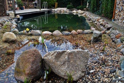 Teichumbau trotz Schichtenwasser