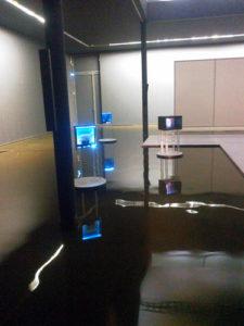 130000 Liter Indoorteich geflutet